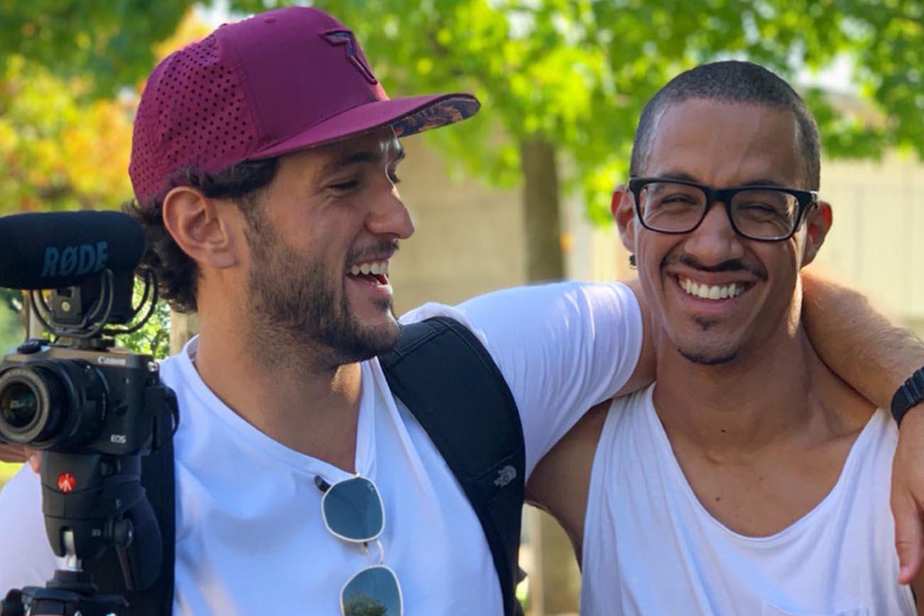 David Mzee con Giuseppe