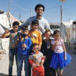 bambini in un campo rifugiato siriano